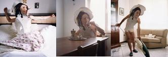Cristian Chironi, Lina si sveglia, Lina beve il caffè, Lina fa le pulizie, 2004, fotografia
