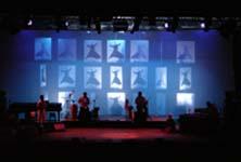 Scenografia di Nero Project per il concerto di Mercan Dede Secret Tribe