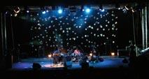 Scenografia di Nero Project per il concerto di Gianluca Petrella Indigo Quartet