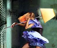 Luisa Raffaelli, About Her Life, fotopittura digitale su alluminio e plexiglass, 2005