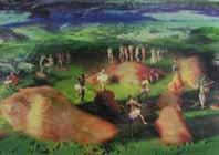 Paolo Consorti, Spazi liberi, tecnica mista su tela, 2004