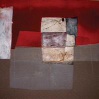 Marco Pili, La capanna di Porgy, terra su tela, 200 x 200 cm
