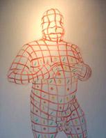 Pietrolio, Sottilettasacra # 1, 2004, Olio su tela, 100 x 120 cm