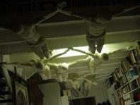 Dario Ghibaudo, Il mondo leggero, 2004, Resina acrilica luminescente, scala 1:1 umana, courtesy Paolo Tonin Arte Contemporanea, Torino