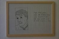 Cesare Viel. Virginia Woolf guarda, 2002, tre disegni su carta incorniciati, 33,4 x 45 cm cad., courtesy Galleria Neon, Bologna