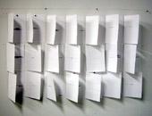 Marta Dell'Angelo, Senza Titolo, 2003, installazione, inchiostro su carta, 63 x 105 cm, courtesy Le Case d'Arte, Milano