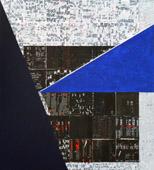 Zaza Calzia, Lettres découpées, 2003, tempera vinilica ad acqua su tela, 100 x 110 cm