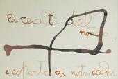 Giovanna Secchi, Pagine, 1967, quattro disegni su carta intelata, 32,5 x 50 cm