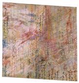 Roberto Puzzu, Una lettera, 1985, tecnica mista su tela, 200 x 200 cm