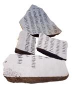 Pinuccio Sciola, Senza titolo, anni '80, basalto, 5 elementi, dimensione ambiente