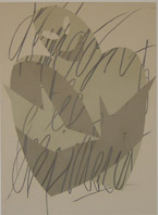 Gianfranco PIntus, Senza titolo 1/ 3#2 /3, 1984-1985, commesso in carta e grafite, 110 x 130 cm cad