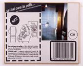 Franco Vaccari, Non distrarti mentre cucini, 1993, tecnica mista su tela emulsionata, 105 x 130 cm