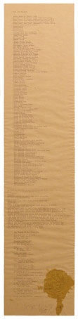 Joseph Beuys, Food for Thought, 1975, tecinca mista su carta, 20 x 89 cm, collezione M&B