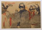 Lamberto Pignotti, Poesia Visiva, 1969-1970, intervento su frammento di giornale, 12 x 10 cm, collezione A. Casu